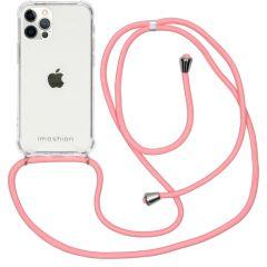 iMoshion Backcover met koord iPhone 12 (Pro) - Roze