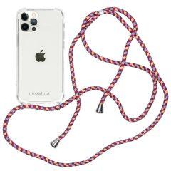 iMoshion Backcover met koord iPhone 12 (Pro) - Paars
