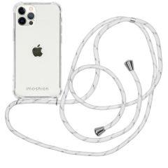 iMoshion Backcover met koord iPhone 12 (Pro) - Wit / Zilver