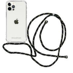 iMoshion Backcover met koord iPhone 12 (Pro) - Zwart / Goud