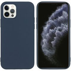 iMoshion Color Backcover iPhone 12 (Pro) - Donkerblauw