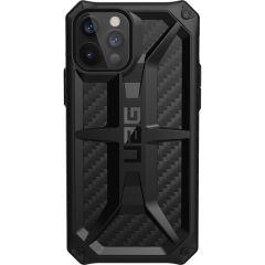UAG Monarch Backcover iPhone 12 (Pro) - Carbon Fiber Black