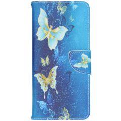 Design Softcase Booktype Samsung Galaxy A42- Vlinders