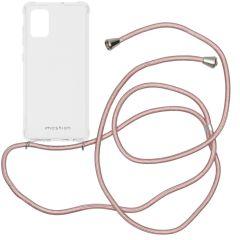 iMoshion Backcover met koord Samsung Galaxy A71 - Rosé Goud