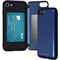 iMoshion Backcover met pashouder iPhone SE (2020) / 8/7 - Donkerblauw