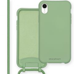 iMoshion Color Backcover met afneembaar koord iPhone Xr - Groen