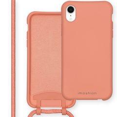 iMoshion Color Backcover met afneembaar koord iPhone Xr - Peach