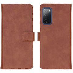 iMoshion Luxe Booktype Samsung Galaxy S20 FE - Bruin