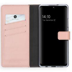 Selencia Echt Lederen Booktype Samsung Galaxy A42 - Roze