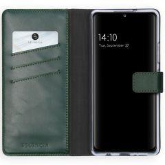 Selencia Echt Lederen Booktype Samsung Galaxy A42 - Groen