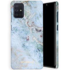 Selencia Maya Fashion Backcover Samsung Galaxy A71 - Marble Blue