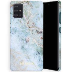 Selencia Maya Fashion Backcover Samsung Galaxy A51 - Marble Blue