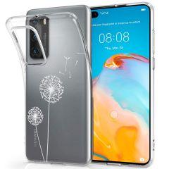 iMoshion Design hoesje Huawei P40 - Paardenbloem - Wit