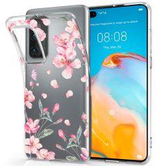 iMoshion Design hoesje Huawei P40 - Bloem - Roze