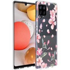 iMoshion Design hoesje Samsung Galaxy A42 - Bloem - Roze