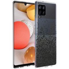 iMoshion Design hoesje Samsung Galaxy A42 - Spetters - Zwart