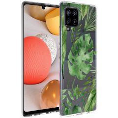 iMoshion Design hoesje Samsung Galaxy A42 - Bladeren - Groen