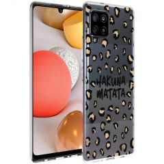 iMoshion Design hoesje Samsung Galaxy A42 - Luipaard - Bruin / Zwart
