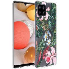 iMoshion Design hoesje Samsung Galaxy A42 - Jungle - Groen / Roze