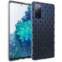 iMoshion Design hoesje Samsung Galaxy S20 FE - Hartjes - Zwart