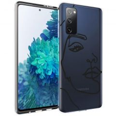 iMoshion Design hoesje Galaxy S20 FE - Abstract Gezicht - Zwart