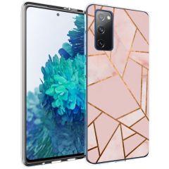 iMoshion Design hoesje Galaxy S20 FE - Grafisch Koper - Roze / Goud