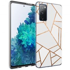 iMoshion Design hoesje Galaxy S20 FE - Grafisch Koper - Wit / Goud
