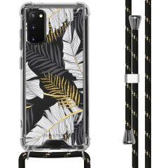 iMoshion Design hoesje met koord Samsung Galaxy S20 - Bladeren