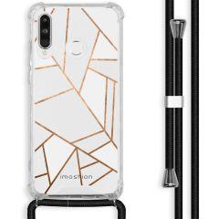 iMoshion Design hoesje met koord Huawei P30 Lite - Grafisch Koper