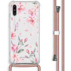 iMoshion Design hoesje met koord Huawei P30 Lite - Bloem - Roze