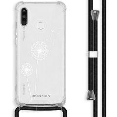 iMoshion Design hoesje met koord Huawei P30 Lite - Paardenbloem - Wit