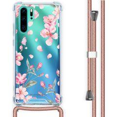iMoshion Design hoesje met koord Huawei P30 Pro - Bloem - Roze