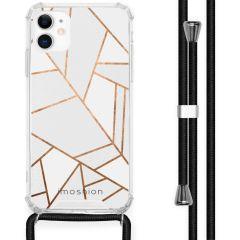 iMoshion Design hoesje met koord iPhone 11 - Grafisch Koper - Wit