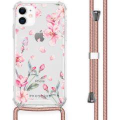 iMoshion Design hoesje met koord iPhone 11 - Bloem - Roze
