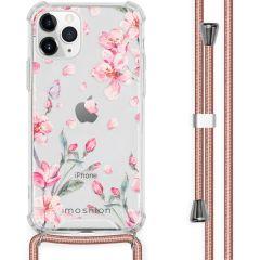 iMoshion Design hoesje met koord iPhone 11 Pro - Bloem - Roze