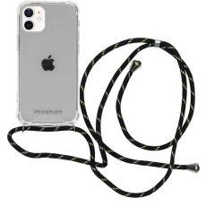 iMoshion Backcover met koord iPhone 12 Mini - Zwart / Goud