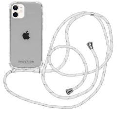 iMoshion Backcover met koord iPhone 12 Mini - White / Silver