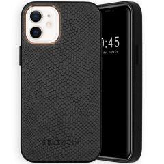 Selencia Gaia Slang Backcover iPhone 12 Mini - Zwart