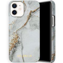Selencia Maya Fashion Backcover iPhone 12 Mini - Marble Stone