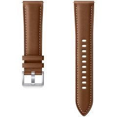 Samsung Leather Band Galaxy Watch Active 2 / Watch 3 41mm - Bruin
