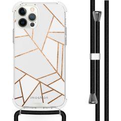 iMoshion Design hoesje met koord iPhone 12 (Pro) - Grafisch Koper