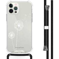 iMoshion Design hoesje met koord iPhone 12 (Pro) - Paardenbloem
