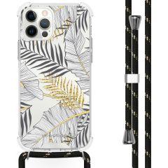iMoshion Design hoesje met koord iPhone 12 (Pro) - Bladeren