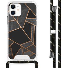 iMoshion Design hoesje met koord iPhone 12 Mini - Grafisch Koper