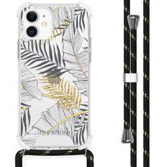 iMoshion Design hoesje met koord iPhone 12 Mini - Bladeren