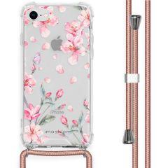 iMoshion Design hoesje met koord iPhone SE (2020) / 8 / 7 - Bloem