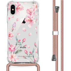 iMoshion Design hoesje met koord iPhone X / Xs - Bloem - Roze