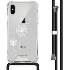 iMoshion Design hoesje met koord iPhone X / Xs - Paardenbloem - Wit