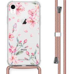 iMoshion Design hoesje met koord iPhone Xr - Bloem - Roze