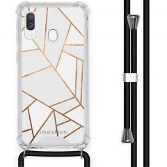 iMoshion Design hoesje met koord Samsung Galaxy A40 - Grafisch Koper